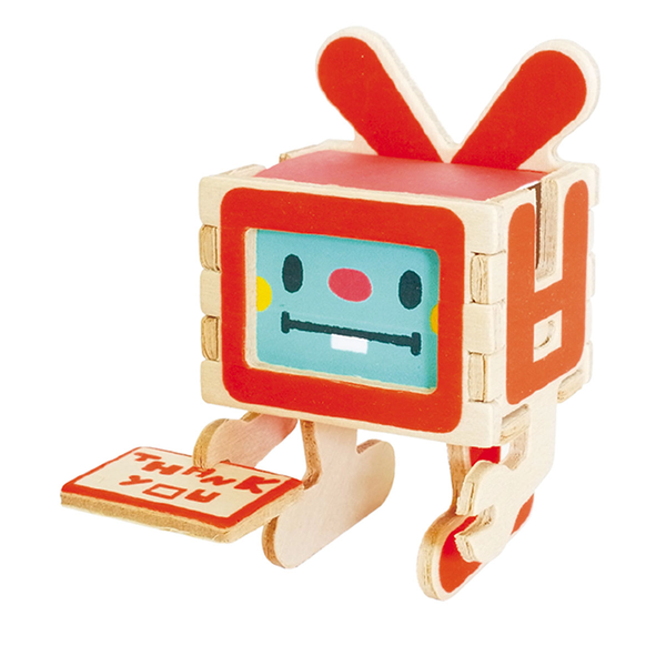 Play Deco 3D Robot Thank You Card