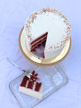 Load image into Gallery viewer, Red Velvet Celebration Cake
