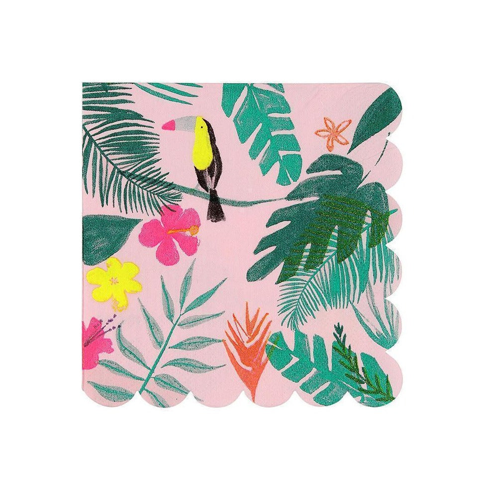 Pink Tropical Napkins