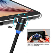 Ihrtrade 360° Magnetic Charging Cable For Apple / Micro-USB / USB-C (4 colors & 3 models)