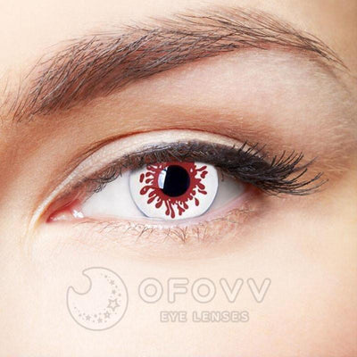 Ofovv® Cheap Prescription Blood splat Special Effect Colored Contact Lenses Online Store(1 YEAR)