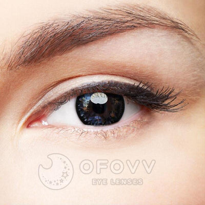Ofovv®Cheap Prescription Black Starshine Hazel Colored Contact Lenses Online Store (1 YEAR)