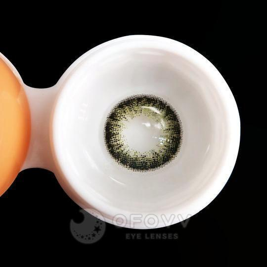Ofovv® Eye Circle Lens Vintage Olive Colored Contact Lenses V6030(1 YEAR)
