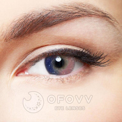 Ofovv® Cheap Prescription Galaxy Pink Colored Contact Lenses Online Store(1 YEAR)