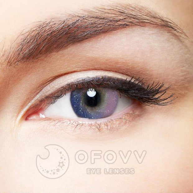 Ofovv® Cheap Prescription  Galaxy Purple Colored Contact Lenses Online Store(1 YEAR)