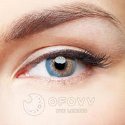 Ofovv® Eye Circle Lens Juice Blue Toric Colored Contact Lenses V6075(1 YEAR)