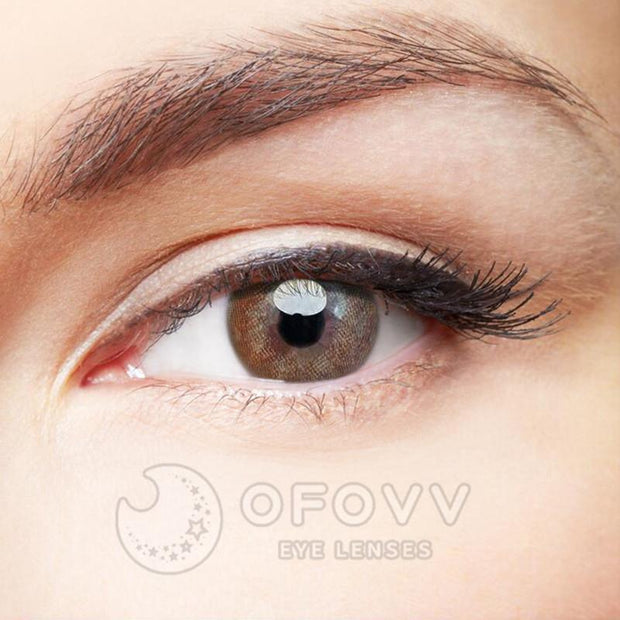 Ofovv® Eye Circle Lens Juice Brown Toric Colored Contact Lenses V6076(1 YEAR)