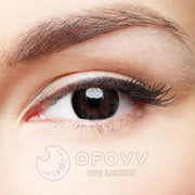 Ofovv® Eye Circle Lens Snowflake Black Colored Contact Lenses V6131(1 YEAR)