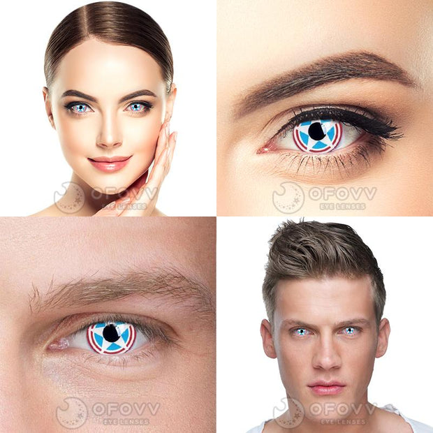 Ofovv® Cheap Prescription Captain Special Effect Colored Contact Lenses Online Store(1 YEAR)