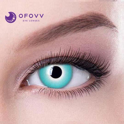 Ofovv® Cheap Non Prescription And Prescription White Ice Special Effect Colored Contact Lenses Online Store(1 YEAR)