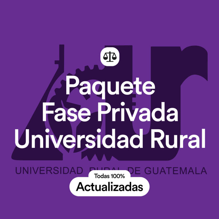 Paquete Universidad Rural Fase Privada