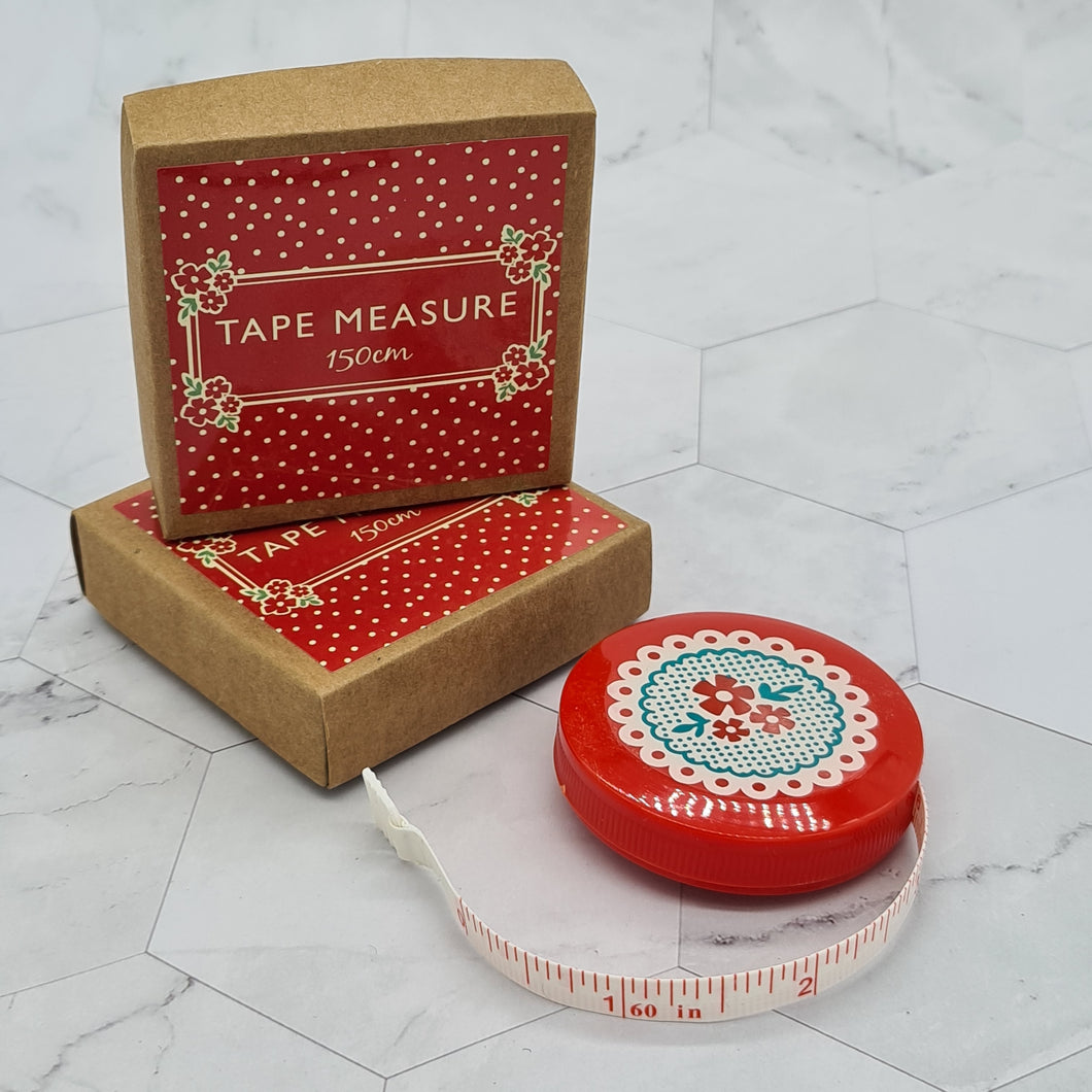 Red Doily Mini Tape Measure