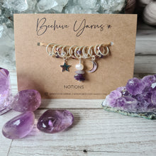 Load image into Gallery viewer, Crystal Visions Celestial Stitchmarker Set ~ select your crystal
