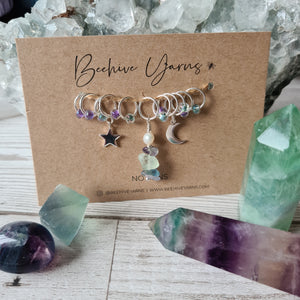 Crystal Visions Celestial Stitchmarker Set ~ select your crystal