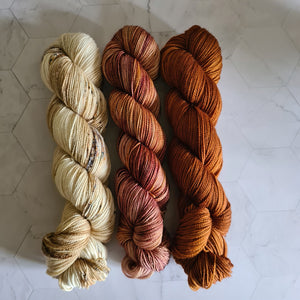 Stillness Shawl / 3 skein kit - Cinnamon Bun