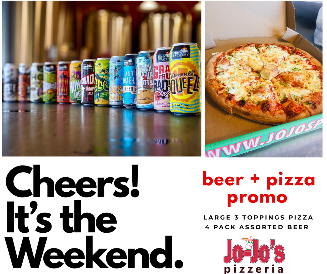 Large Pizza and Beer Weekend DIY PROMO!
