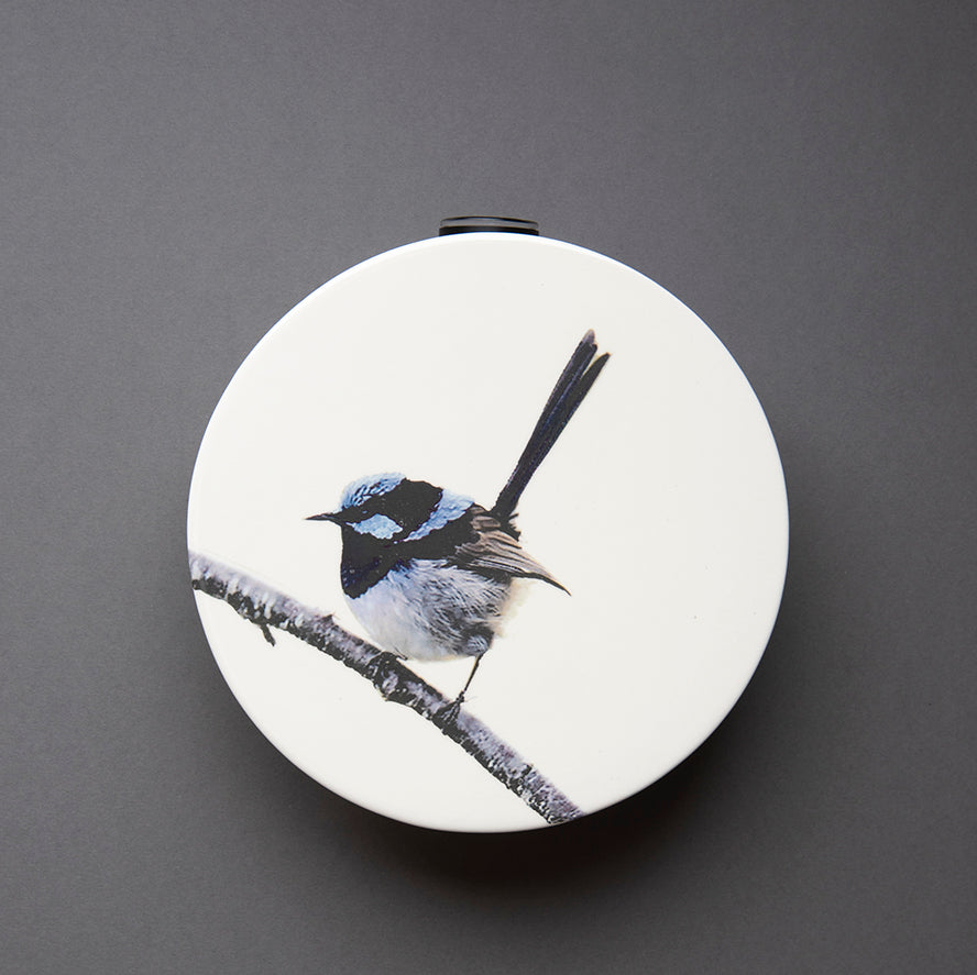 Blue Wren Wall Vase