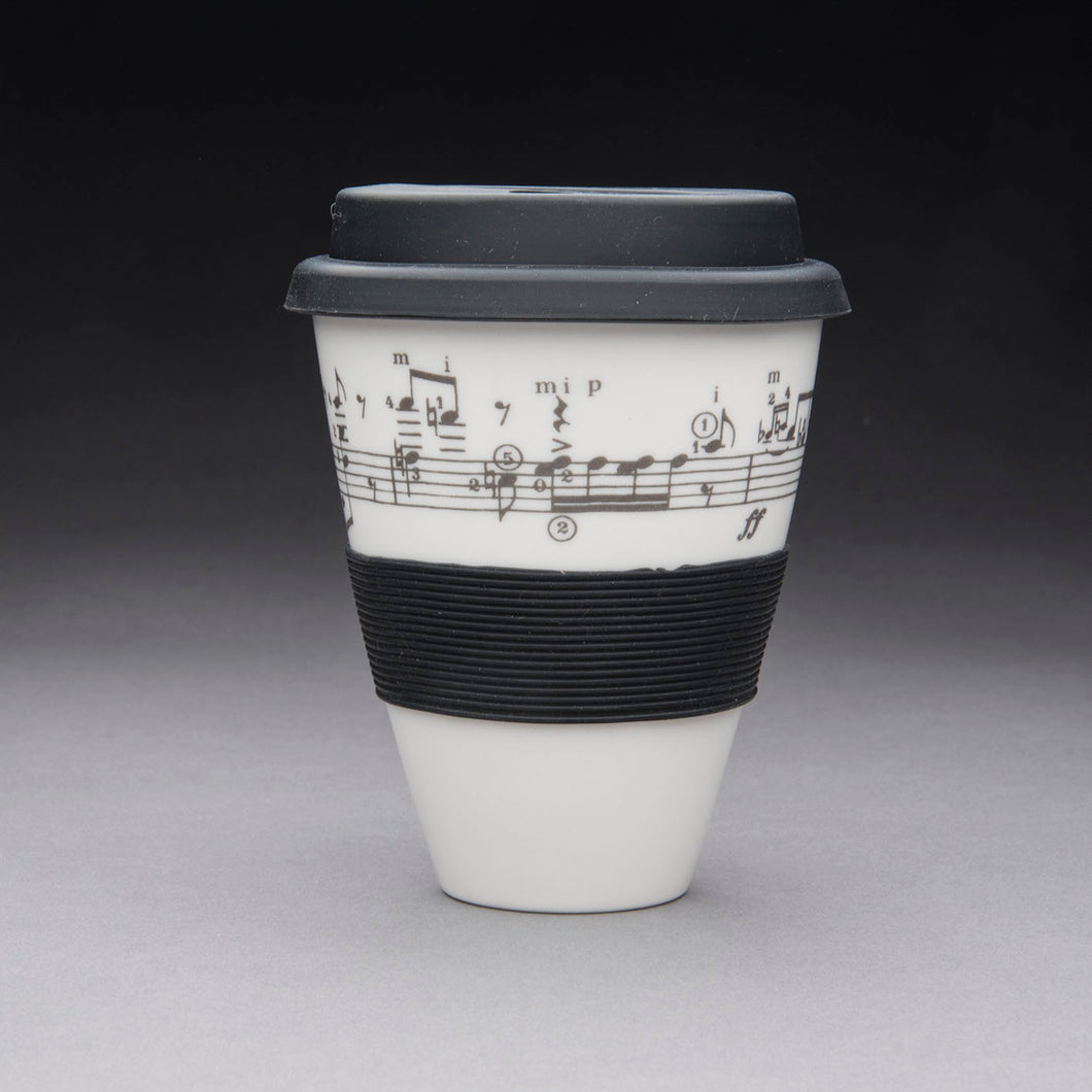 Porcelain Travel Cup - Classical Guitar