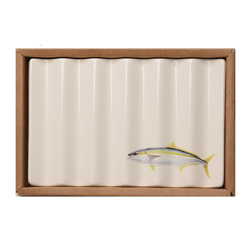 Soap Dish with Yellow Tailed Kingfish