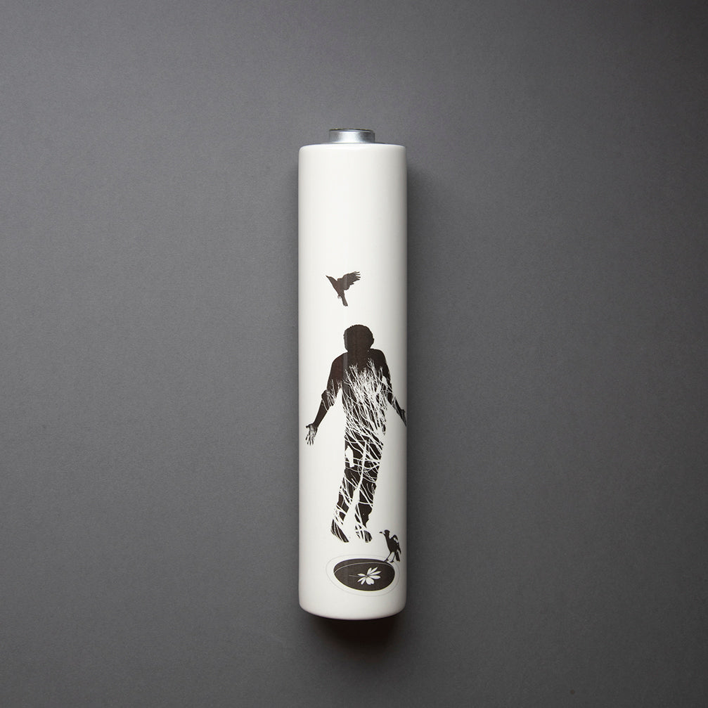Bird Man Wall Vase