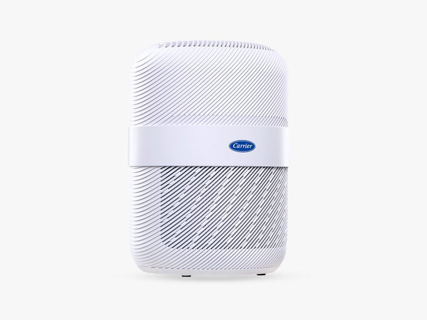 white table top air purifier with HEPA filters and aromatherapy