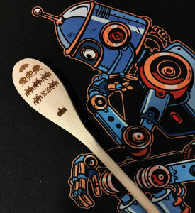 SPACE INVADERS - Wooden Spoon