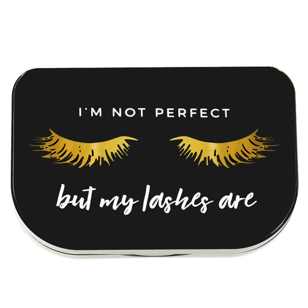 """I'm Not Perfect"" Lash Storage Case"