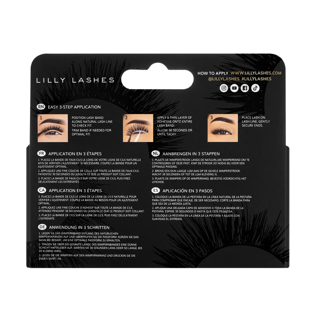 Luxury Synthetic Rouge Lash Back of Box