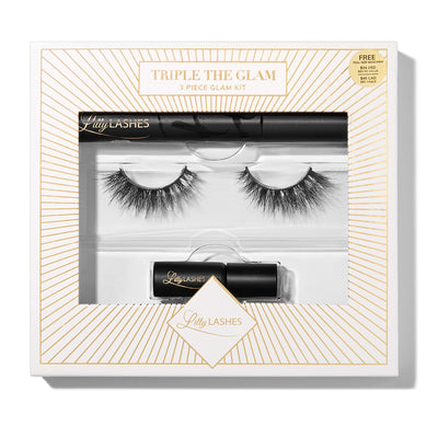 Lilly Lashes Triple the Glam 3 Piece Glam Kit