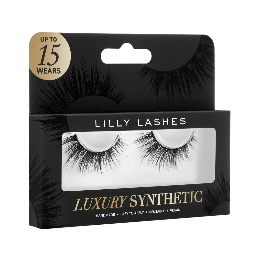 Lilly Lashes Luxury Synthetic VIP False Lash box side angle