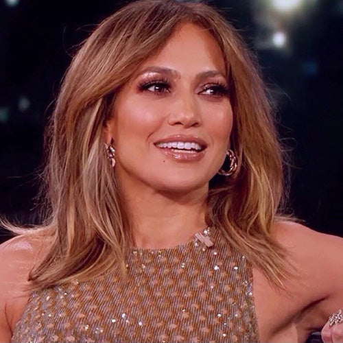 Jennifer Lopez in NYC Lilly Lashes