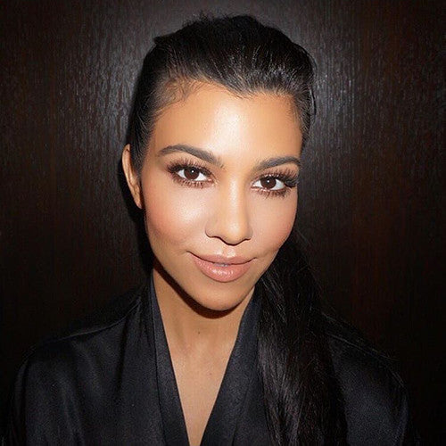Kourney Kardashian in Paris Lilly Lashes