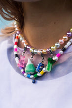 Load image into Gallery viewer, The ASHLEY Pastel Pearl Necklace - Blackcurrant Pop