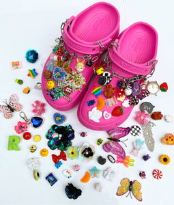 The MARIANNE Shoe charms - SEQUIN FLOWERS x DROP 5 - Blackcurrantpop