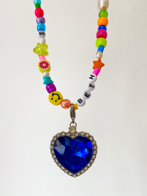 The MOLLY  Heart pendant Charm - Blackcurrantpop