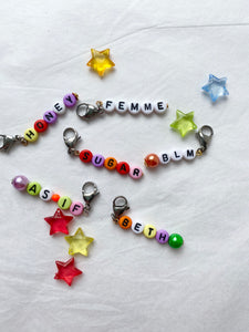 The ANDY Personalised name charm - Blackcurrantpop