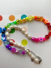 Load image into Gallery viewer, The GEMMA  Pearl rainbow Choker - Blackcurrantpop