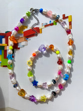 Load image into Gallery viewer, The NNENNA Pearl rainbow bracelet - Blackcurrantpop
