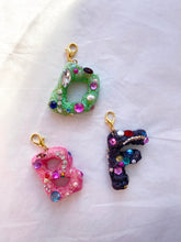 Load image into Gallery viewer, The FAYE Initial glitter charm - Blackcurrantpop