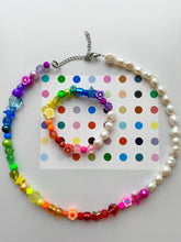 Load image into Gallery viewer, The GEMMA  Pearl rainbow bracelet - Blackcurrantpop
