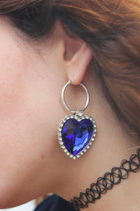 The MOLLY Heart Single Earring - Blackcurrant Pop