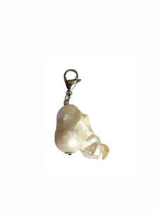 Baroque Freshwater Pearl Charm - Blackcurrant Pop