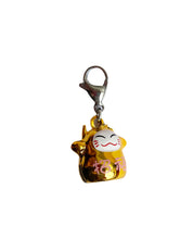 Load image into Gallery viewer, Metal Happy Cat Charm