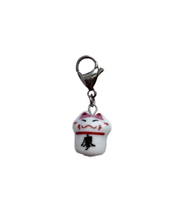 Ceramic Happy Cat Charm - Blackcurrant Pop