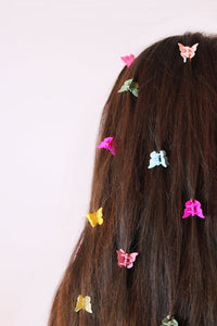 The LIZZY 90s Butterfly clips - Blackcurrantpop