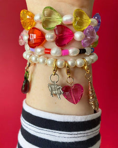 The AMELIE Candy Heart Bracelet - Blackcurrant Pop