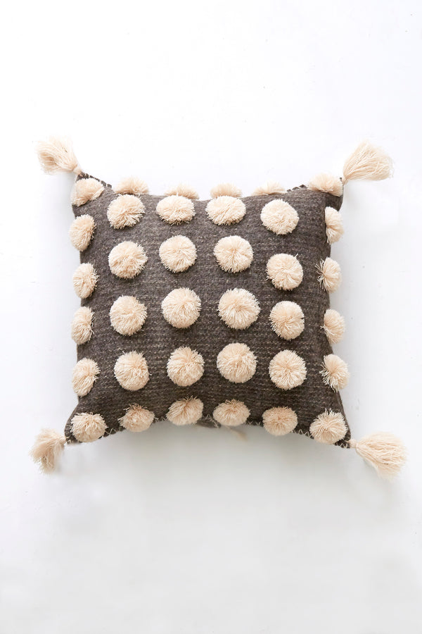 ULA Pillow - Cream on Grey