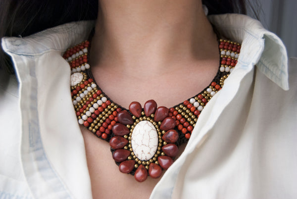 Woven Statement Necklace - 3 styles