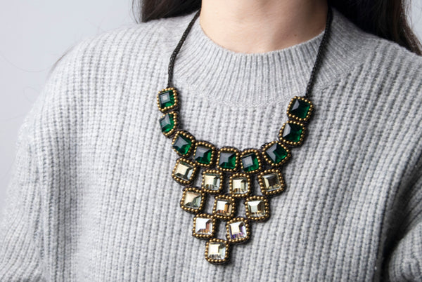 Woven Statement Necklace - 2 styles