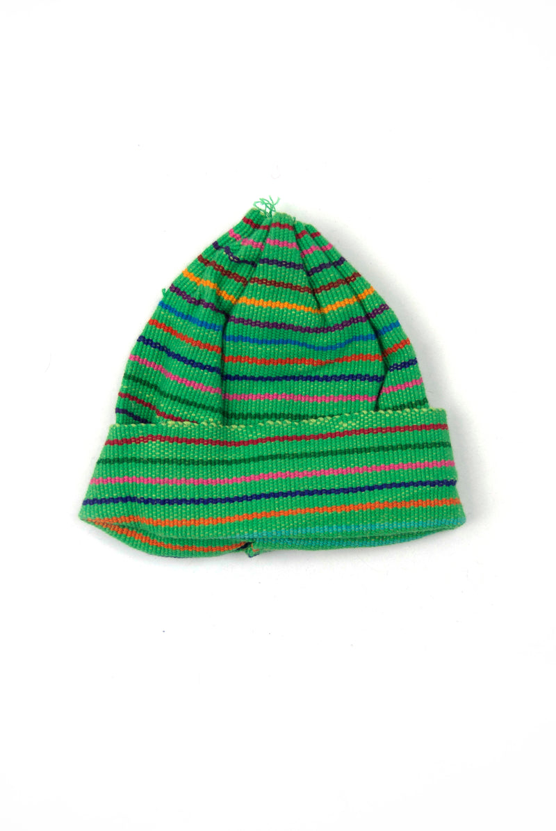 Woven Child's Cap - Green
